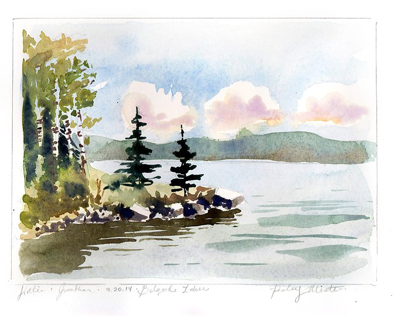 HaleyMistler_belgrade_lake_watercolor