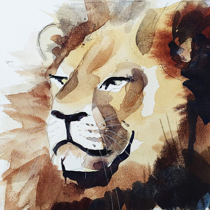 Cecil_lion_watercolor_painting